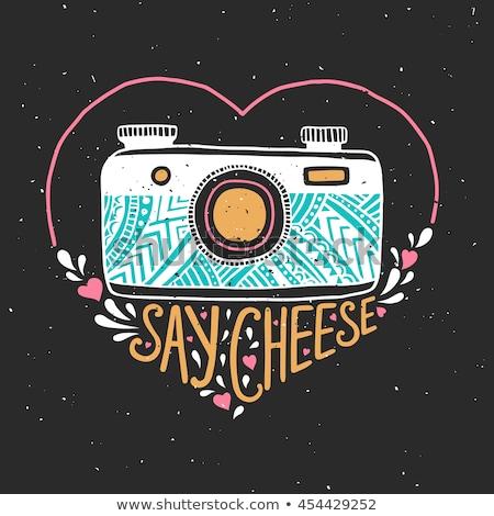 Fotografía tipografía ilustración camiseta carteles edad Foto stock © JeksonGraphics