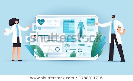 Foto d'archivio: Medici · software · tablet · sanitaria