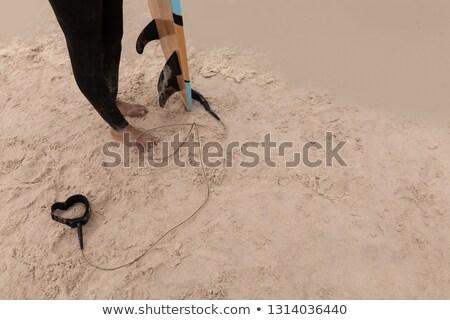 Alacsony részleg idős női szörfös szörfdeszka Stock fotó © wavebreak_media