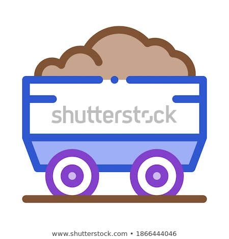 heavy truck with material metallurgical icon vector illustration stock photo © pikepicture