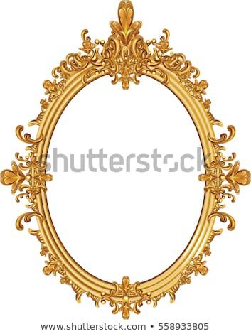 Barroco luxo dourado quadro vetor elegante Foto stock © frimufilms