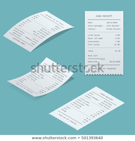 Blank cash receipt Stock photo © montego