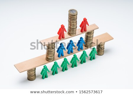Recruiter Complete Team Over The Wooden Plank Stock photo © AndreyPopov
