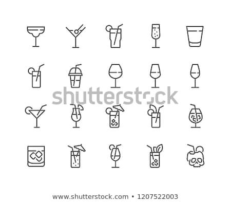 beber · vidro · azeitonas · branco · álcool · martini - foto stock © mayboro