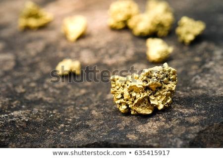 Kopalni złota wydobycie podziemnych minerały ilustracja Zdjęcia stock © jossdiim