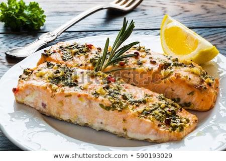 鮭 魚 バター 表 在庫 写真 ストックフォト © tycoon