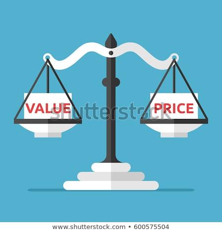 Dengelemek terazi sözler fiyat değer işadamı Stok fotoğraf © vectorikart