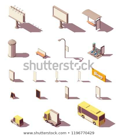isometric signboards Stock photo © Mark01987