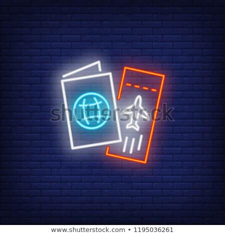 Document Neon Sign Stock photo © Anna_leni