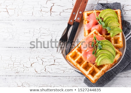 Keto cheese waffle with avocado Stock photo © furmanphoto