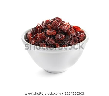 Ceramic bowl of Cranberry on white background Stock photo © joannawnuk