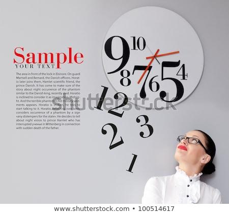 üzletasszony óra időbeosztás lány megbeszélés munka Stock fotó © Elnur