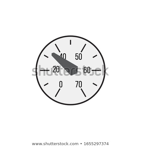 Manometer face. Measuring circle scale. Measuring round scale, Level indicator, measurement accelera Stock photo © kyryloff
