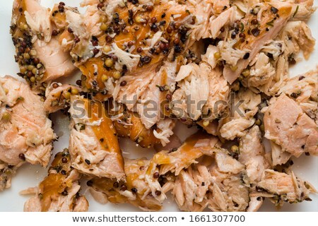 rustic smoked salmon flakes food background Stock photo © zkruger