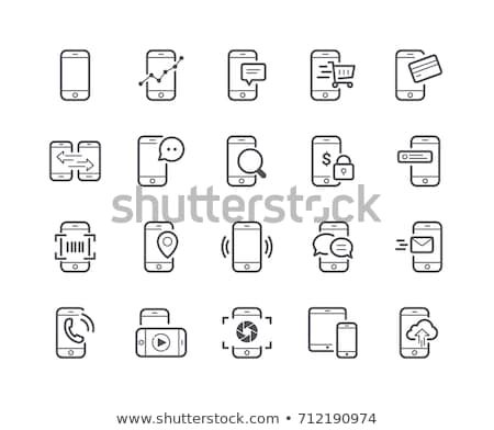 Mobile Phone with search icon stock photo © kbuntu