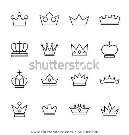 Koninklijk kroon icon vector schets illustratie Stockfoto © pikepicture
