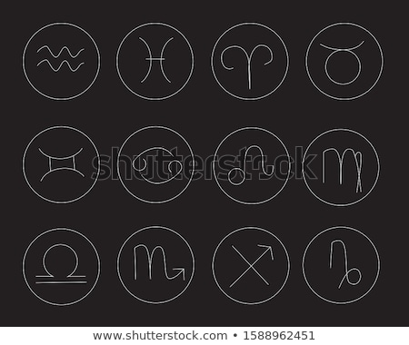 Libra Zodiac Sign, Design of Astrological Symbol Stock photo © robuart