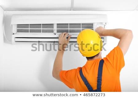 Ar condicionado reparar trabalhar escritório homem Foto stock © AndreyPopov