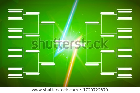 Torneo plantilla 16 equipos verde flash Foto stock © evgeny89