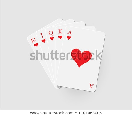 ロイヤル ポーカー 組み合わせ グレー 影 中心 ストックフォト © evgeny89