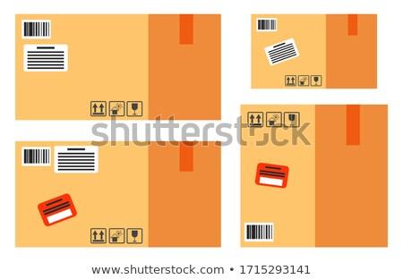 ステッカー 情報をもっと見る 注文 カートン ボックス ストックフォト © robuart