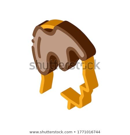 Balding Man Profile isometric icon vector illustration Stock photo © pikepicture