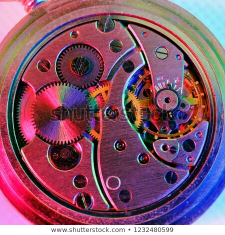 antique watch with illuminated colors stock photo © backyardproductions