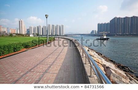Stok fotoğraf: Jogging Path Beside The Coast