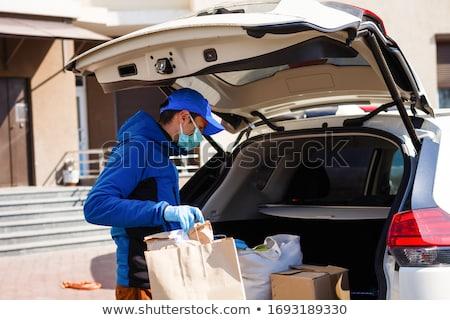 Araba teslim görüntü araç beyaz dizayn Stok fotoğraf © mastergarry