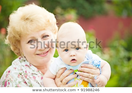 középkorú · nő · gyerek · nagymama · baba · arc - stock fotó © Paha_L