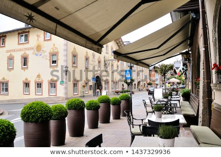 Сток-фото: Summer Cafe Under Awning