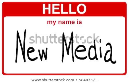 Hallo mijn naam toekomst Blauw Stockfoto © mybaitshop
