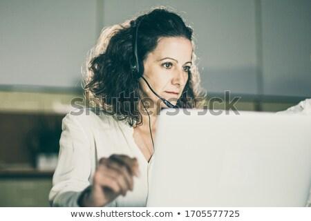 Mature woman receptionist Stock photo © photography33