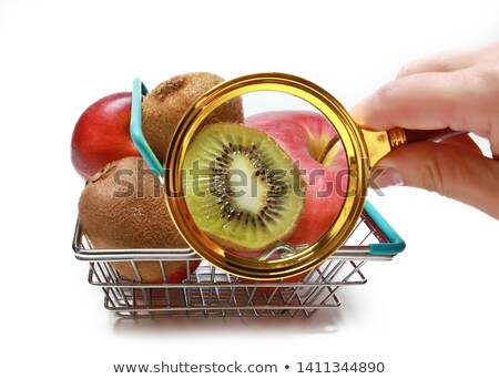 The structure of exotic fruits - nectarine Stock photo © Traven