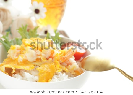 Scrambled egg with shrimp Stock photo © joker