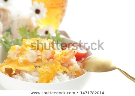 jajecznica · zioła · wewnątrz · szybko · śniadanie - zdjęcia stock © joker