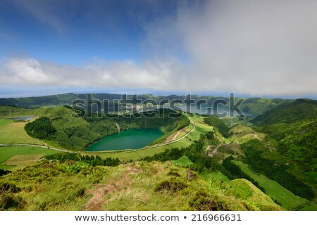 crater lake at the Azores Stock photo © prill