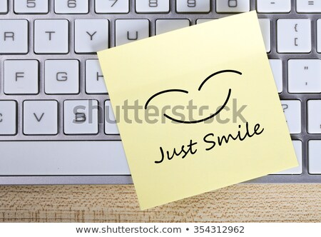 sticky note just smile stock photo © rebirth3d