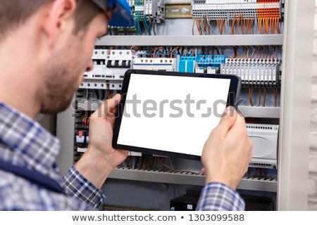 villanyszerelő · kéz · munka · technológia · ipar · kábel - stock fotó © photography33
