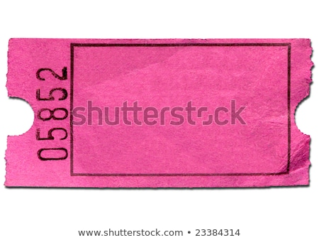 Blank pink admission ticket, isolated on a black background. Stock photo © latent