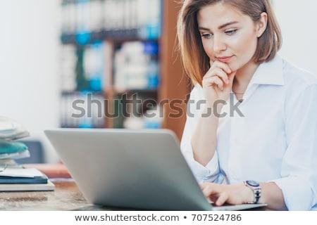 Lesung · ziemlich · jungen · business · woman · E-Mail · Laptop - stock foto © photography33