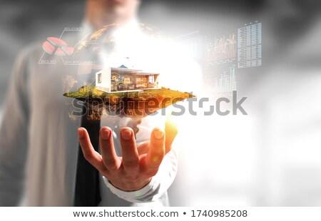 Man holding model housing development Stock photo © photography33