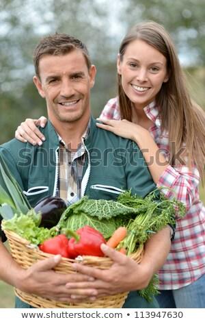 Férj feleség zöldség kosár nő férfi Stock fotó © photography33