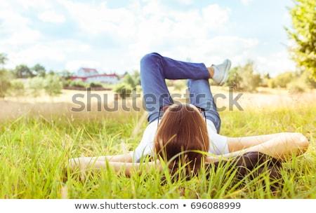 十代の少女 草 花 女性 少女 女性 ストックフォト © AndreyKr