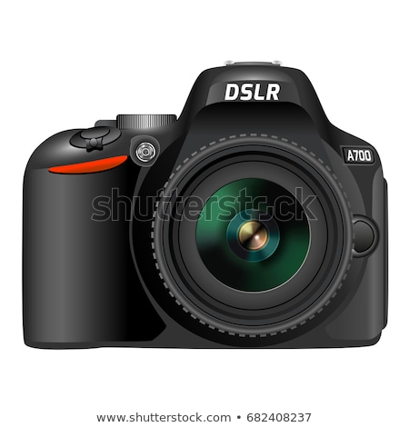 Stock photo: Front view of professional Dslr camera body isolated