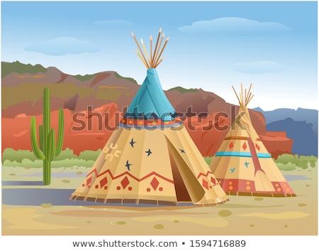Indian tepee Stock photo © devon