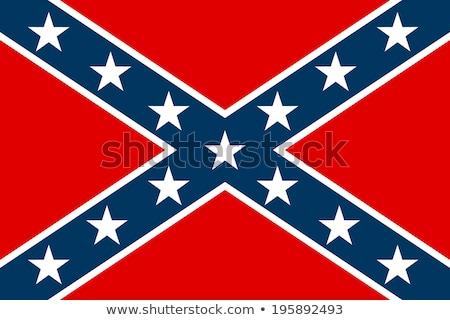 Amerika · zászló · integet · szél · kék · csillag - stock fotó © tony4urban