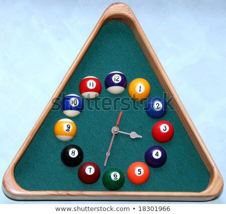 Fal óra snooker előcsarnok háromszög keret Stock fotó © inxti
