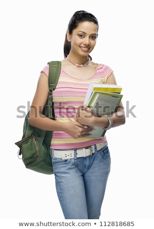 young intellectual holding files stock photo © photography33