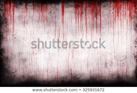 Stockfoto: Bloedig · muur · bloed · patroon · criminaliteit · spray